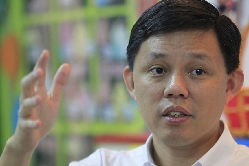 Acting MSF minister Chan Chun Sing speaks to the media at Far Eastern Kindergarten on Aug 14 2013. A suite of support schemes will be rolled out for non-anchor operator pre-schools which receive little or no government grant. -- ST PHOTO: KEVIN LIM