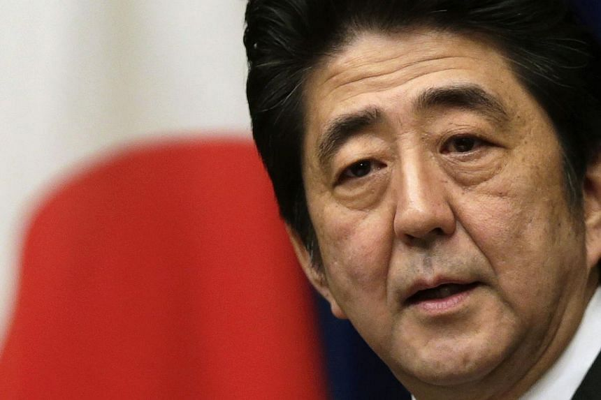 Japan's Prime Minister Shinzo Abe at a news conference at his official residence in Tokyo on March 15, 2013. -- FILE PHOTO: REUTERS