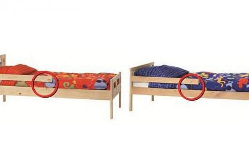 Furniture store IKEA is recalling two models of children's beds (above) following information that they may pose an injury hazard. -- PHOTO: IKEA SINGAPORE