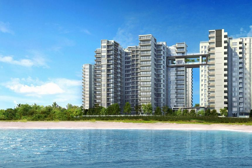 Vue 8 Residence at Pasir Ris. Sales of new private homes plunged to 481 in July, 73 per cent lower than June's figure of 1,806 units sold excluding executive condominiums (ECs). -- FILE PHOTO: SLP INTERNATIONAL