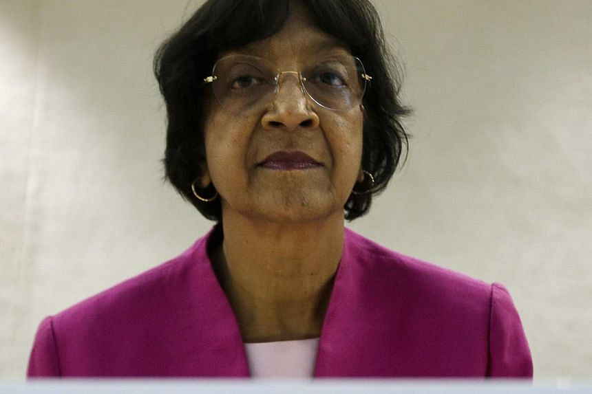 UN rights chief Navi Pillay on Thursday demanded a wide-ranging probe into Egyptian security forces' bloody crackdown on Muslim Brotherhood protesters, joining an international chorus of condemnation. -- FILE PHOTO: REUTERS