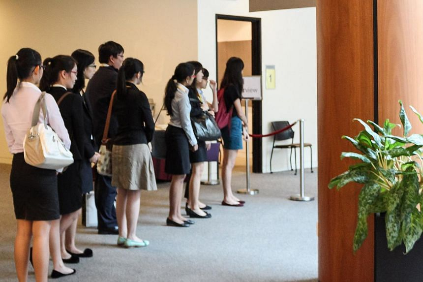 Shortlisted candidates queueing to start their interviews for the newest medical school at Nanyang Technological University (NTU), the Lee Kong Chian School of Medicine, set up by NTU and Imperial College London. Singapore's newest medical school wel