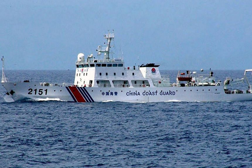 A Chinese Coast Guard ship near disputed islets, known as the Senkaku islands in Japan and Diaoyu islands in China, in the East China Sea. Chinese coast guard ships on Friday sailed into disputed waters at the centre of a bitter row with Tokyo, offic