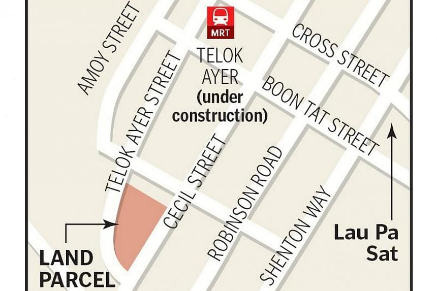 FC Commercial Trustee, a unit of Frasers Centrepoint, offered $924 million, or $1,112 per sq ft (psf) per plot ratio (ppr) for the 99-year leasehold plot between Cecil and Telok Ayer streets. -- ST GRAPHIC