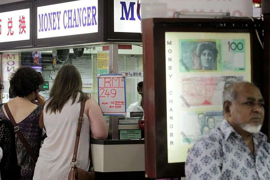 The Australian dollar and Malaysian ringgit are both at a three-year low. The Malaysian ringgit has strengthened slightly since hitting a 15-year low against the Singapore dollar on Aug 9, but analysts expect it to remain weak for the rest of the yea