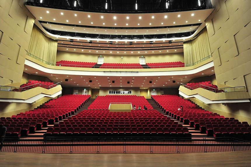 The ITE auditorium where tonight's National Day Rally will be held. -- PHOTO: DIOS VINCOY JR