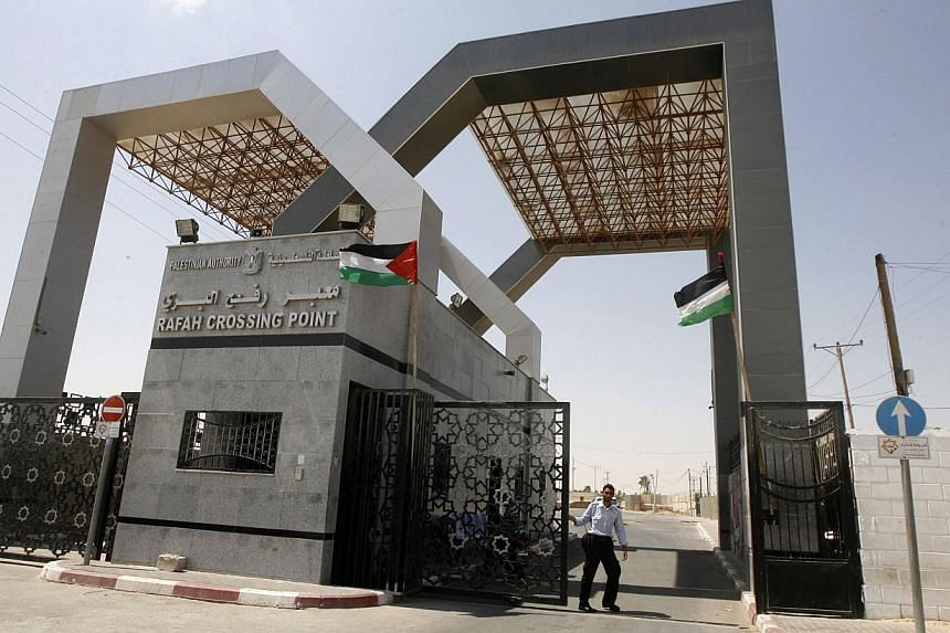 The Rafah crossingpoint with Egypt in the southern Gaza Strip on Aug 15, 2013. Egypt closed its Rafah border crossing in Sinai with the Palestinian Gaza Strip on Monday after a deadly attack nearby that killed 24 policeman, a border official told AFP