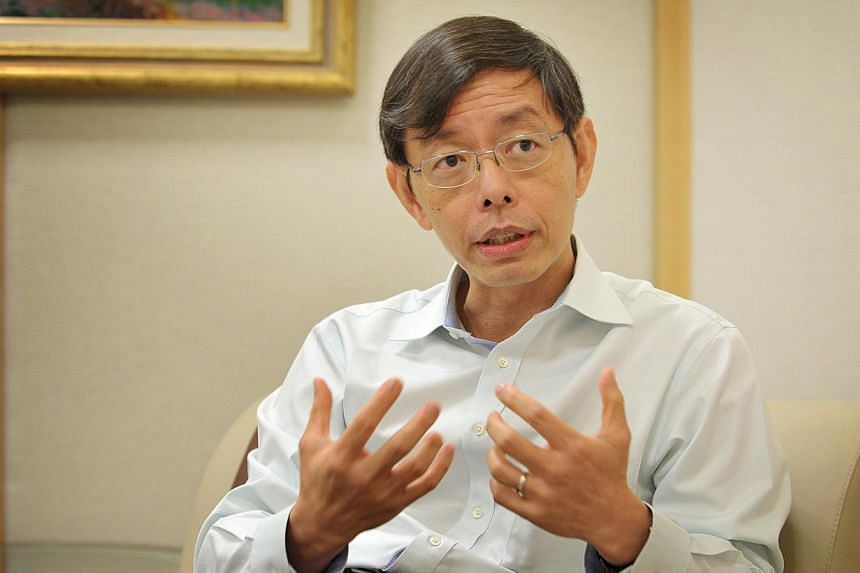 Mr Peter Ong, Permanent Secretary at the Ministry of Finance (MOF), has been reappointed as chairman of the Inland Revenue Authority of Singapore (Iras) board. -- ST FILE PHOTO: ALPHONSUS CHERN