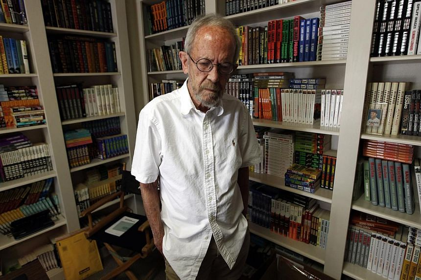 Author Elmore Leonard in his home at Bloomfield Township, Michigan on Monday, Sept 17, 2012. Leonard died on Tuesday, Aug 20, 2013, having suffered a stroke last month, the writer's website said. -- FILE PHOTO: AP