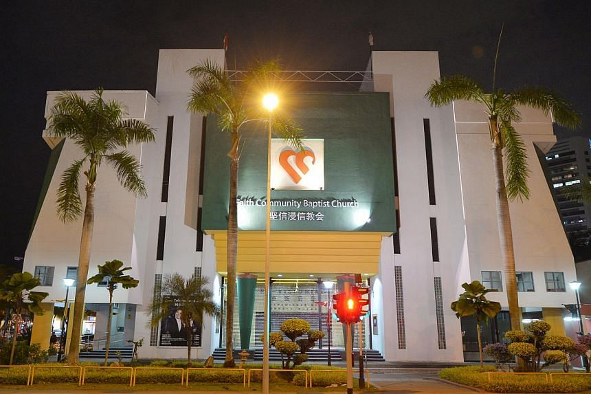 FCBC's building in Marine Parade. Senior pastor Lawrence Khong says it will compensate the woman's pay and maternity benefits on MOM's orders, but will not concede that the dismissal was unjust. -- ST PHOTO: ALPHONSUS CHERN