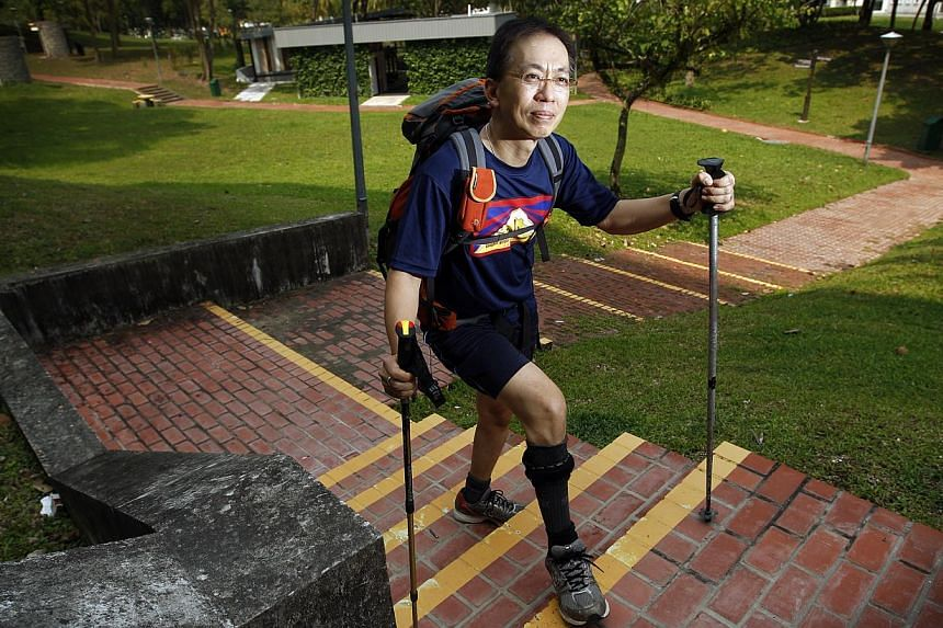 Veteran Everest mountaineer David Lim will attempt to reach Kinabalu's 4,095m summit in one day to solicit donations for the Society of the Physically Disabled (SPD). -- ST FILE PHOTO: LIM WUI LIANG