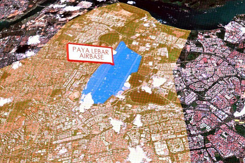 Screenshot of slide of Paya Lebar airbase.Propertyplayers are already excited at the prospect of redeveloping a vast area in the nation's heart - even though it will happen only after 2030. -- ST FILE PHOTO:NURIA LING