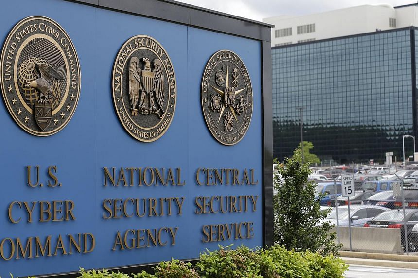 This photo shows the sign outside the National Security Agency (NSA) campus in Fort Meade, Maryland on June 6, 2013.The National Security Agency's surveillance network has the capacity to reach around 75 per cent of all US Internet communicatio