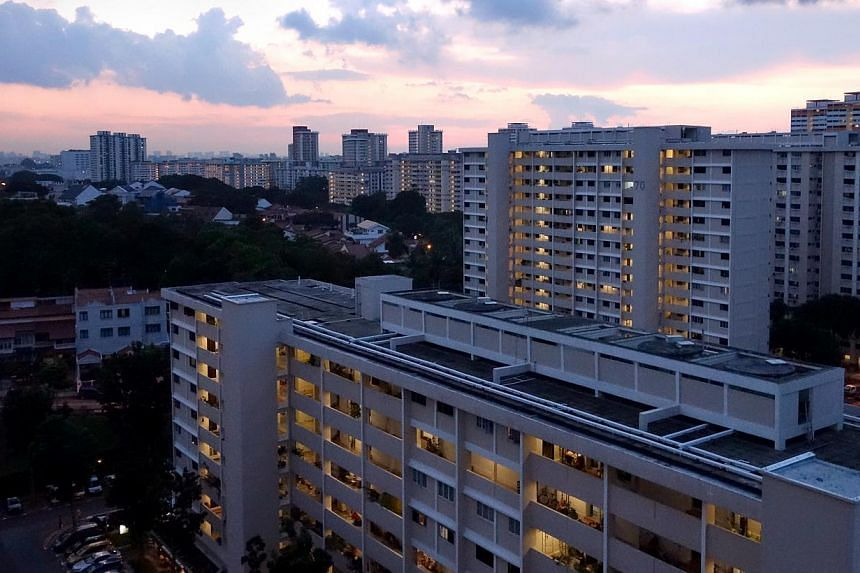Bedok South HDB estate at dusk, taken on June 2, 2013.Thestagnant resale market for public flats could be hit further when housing grants are extended to middle-income households, according to property analysts. -- ST FILE PHOTO:JAM