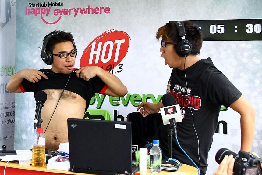Hot FM91.3 DJs Adam Piperdy and Boy Thunder attempt to break the Guinness World Record for longest marathon show for a radio station on March 19, 2013. It was confirmed on Friday, Aug 23, 2013, that the two DJs have officially set a Guinness world re