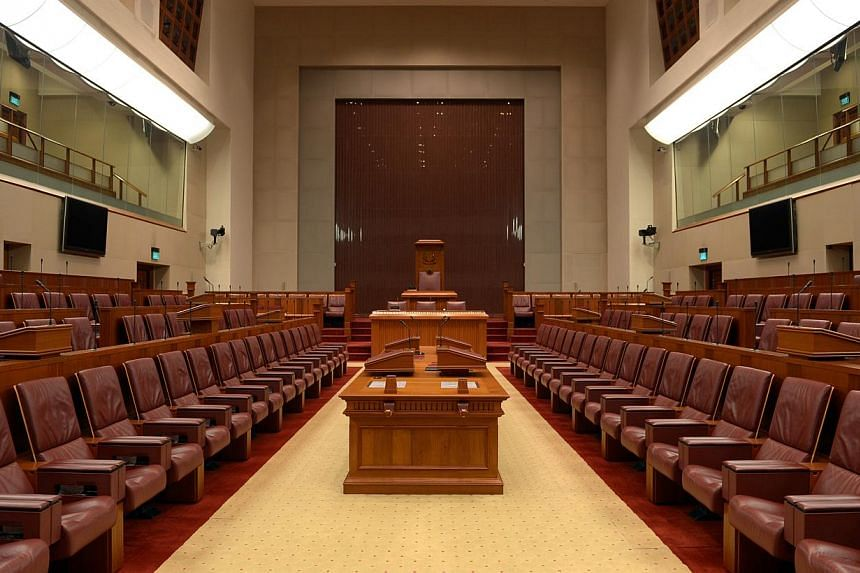 Parliament is set to take a customary mid-term break next year to take stock of its work and let the Government map out a new legislative programme. -- ST FILE PHOTO: CAROLINE CHIA