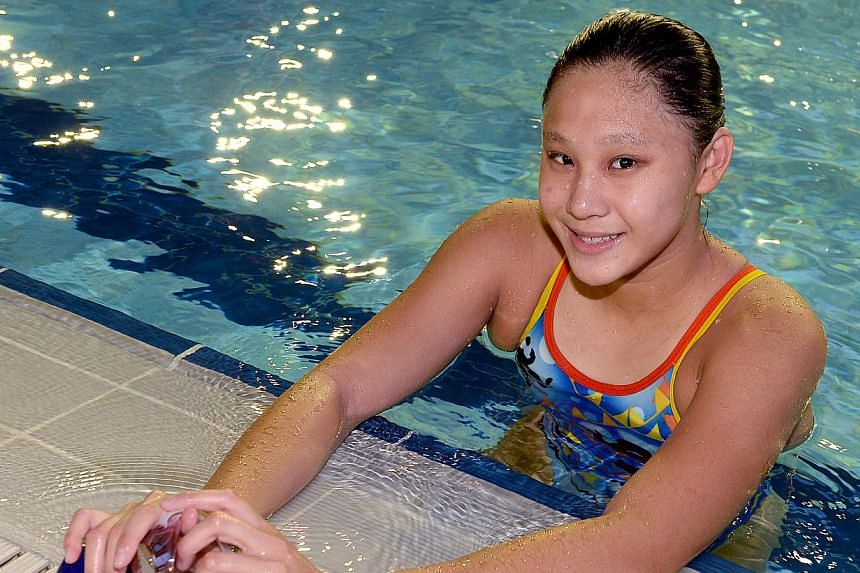Swimmer Samantha Yeo bagged a silver at the Asian Youth Games in Nanjing when she clocked 2min 33.72sec in the girls' 200m breaststroke event on Friday. -- TNP FILE PHOTO: CHOO CHWEE HUA