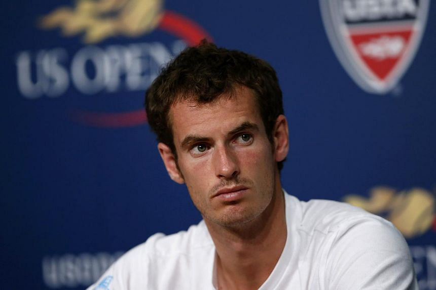 Tennis player Andy Murray of Britain speaks during a news conference after Arthur Ashe Kids' Day at the USTA Billie Jean King National Tennis Center in New York August 24, 2013. Andy Murray says there is less pressure upon him now that he has become