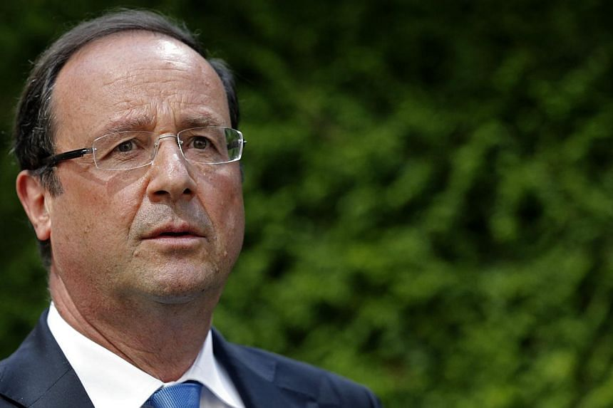 French President Francois Hollande (above) said on Sunday that evidence indicated Syrian President Bashar al-Assad's regime had carried out chemical weapons attacks on its own people last week. -- FILE PHOTO: REUTERS
