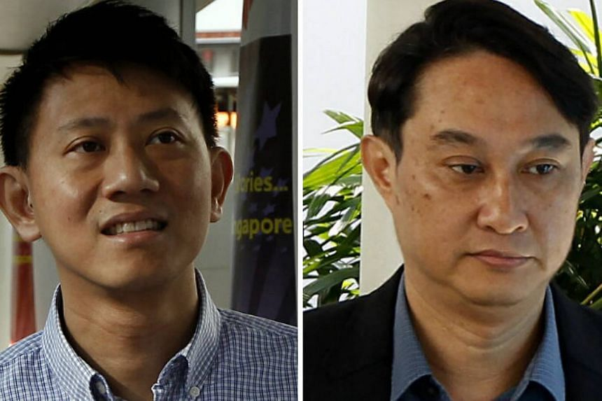 Combination photo of Tan Ye Peng (left) and Chew Eng Han, who are among those accused of misusing City Harvest church funds. Prosecutors strengthened their case about the ties between City Harvest and Xtron Productions on Tuesday by producing emails