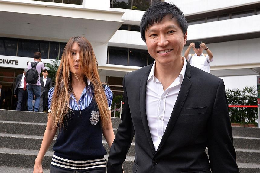 City Harvest founder Kong Hee and wife Ho Yeow Sun showed up in court hand-in-hand for yesterday's proceedings.