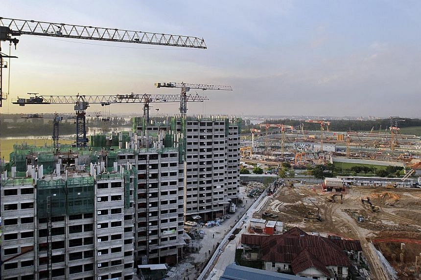 HDB blocks under construction.The Housing Board is taking another stab at encouraging multiple generations to live under one roof.It will be rolling out a new type of three-generation flat, of which about 80 units will be available in Yis
