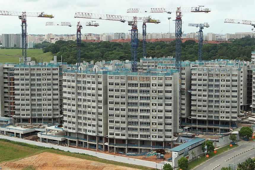 Fernvale Riverbow Build-To-Order (BTO)flats under construction at Fernvale Link. To help more middle-income families afford a bigger flat, the Housing Board has raised the income limit for first-timers applying for the Special Housing Grant (SH