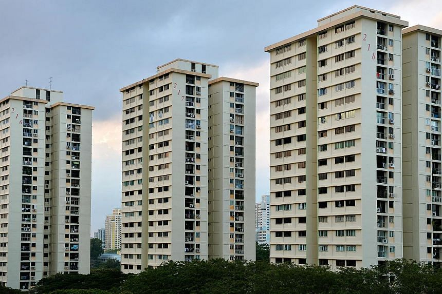 HDB flats in Toa Payoh. The Housing Board has further tightened rules on mortgages in the resale market, and discourage those who buy public flats from overspending.-- ST FILE PHOTO:KUA CHEE SIONG