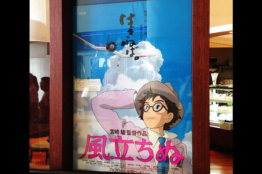 Director Hayao Miyazaki's latest animated feature Kaze Tachinu (The Wind Rises),  about the designer of Japan's WW2 Zero fighter jet, was released in Japan on July 20, 2013. -- ST PHOTO: KWAN WENG KIN
