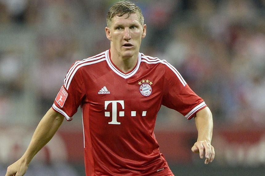 Bayern Munich's midfielder Bastian Schweinsteiger is seen during the Audi Cup football match against Manchester City in Munich, southern Germany on Aug 1, 2013.Bayern Munich are hopeful Schweinsteiger will be fit to play Chelsea in the Uefa Sup
