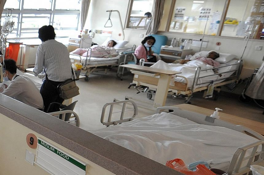 A hospital ward at Changi General Hospital.Singapore's health insurance sector is expected to expand fourfold by 2020 to reach a total value of US$6.8 billion (S$8.7 billion), according to a new study by Roland Berger Strategy Consultants. -- S