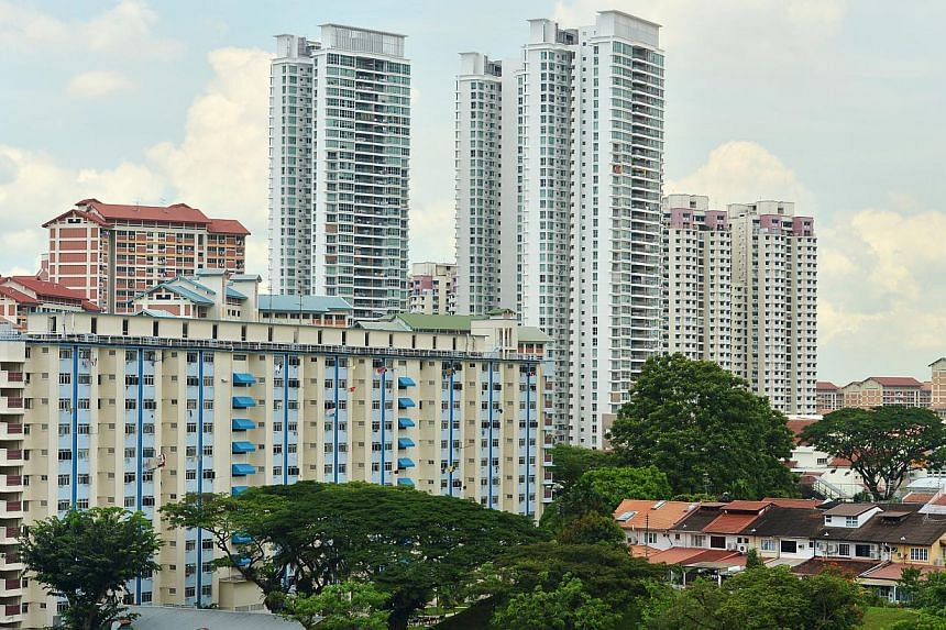 High-rise HDB flats in the Bishan and Sin Ming area. The prices of private resale homes in Singapore edged up by 0.2 per cent last month, according to new data released on Wednesday. -- ST FILE PHOTO: ALPHONSUS CHERN
