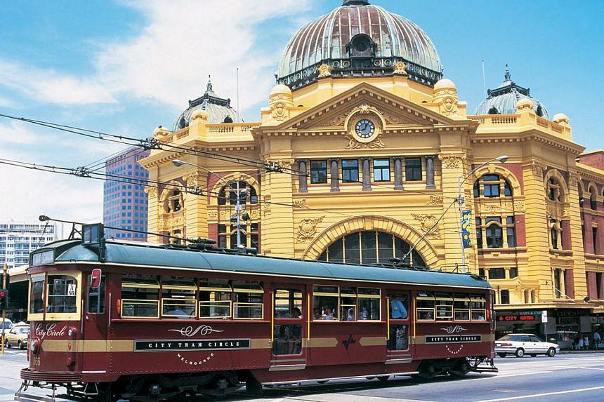 Melbourne city circle tram in Melbourne in Australia. Melbourne was named the world's most liveable city for the third year in a row, according to a survey of 140 cities released this month by the Economist Intelligence Unit (EIU). -- FILE PHOTO: TOU