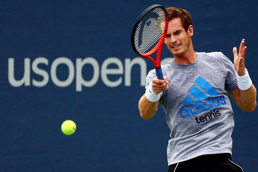 Andy Murray of Great Britain practices during Day One of the 2013 US Open at USTA Billie Jean King National Tennis Center on August 26, 2013 in the Flushing neigborhood of the Queens borough of New York City. Defending US Open champion Murray's impat