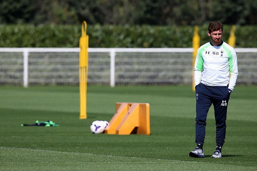 Tottenham Hotspur's Portuguese ex-manager Andre Villas-Boas attends a training session at the club's complex in Enfield, north of London, on Aug 28, 2013, the eve of their UEFA Europa League qualifying play-off round second leg football match against