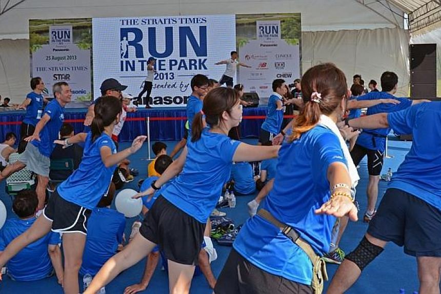 """Participants at theinaugural ST Run at Punggol Waterway. TheStraits Times Appreciates Readers (Star) programmewon the best """"Newspaper Event"""" award for newspapers of 90,000 and above in circulationat this year's Pacific Area Ne"""