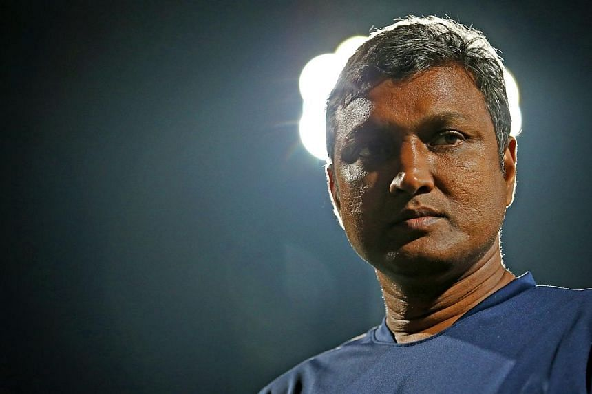 The Football Association of Singapore (FAS) still harbours hopes of V. Sundramoorthy (above) leading the LionsXII and the national Under-23 side at the upcoming SEA Games. -- TNP FILE PHOTO:GARY GOH