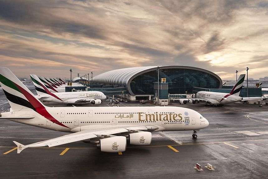 Emirates Airline plans to more than double its network of United States (US) destinations in the next three to five years to a total of 15 US cities, up from seven currently, a company official said. -- PHOTO: EMIRATES