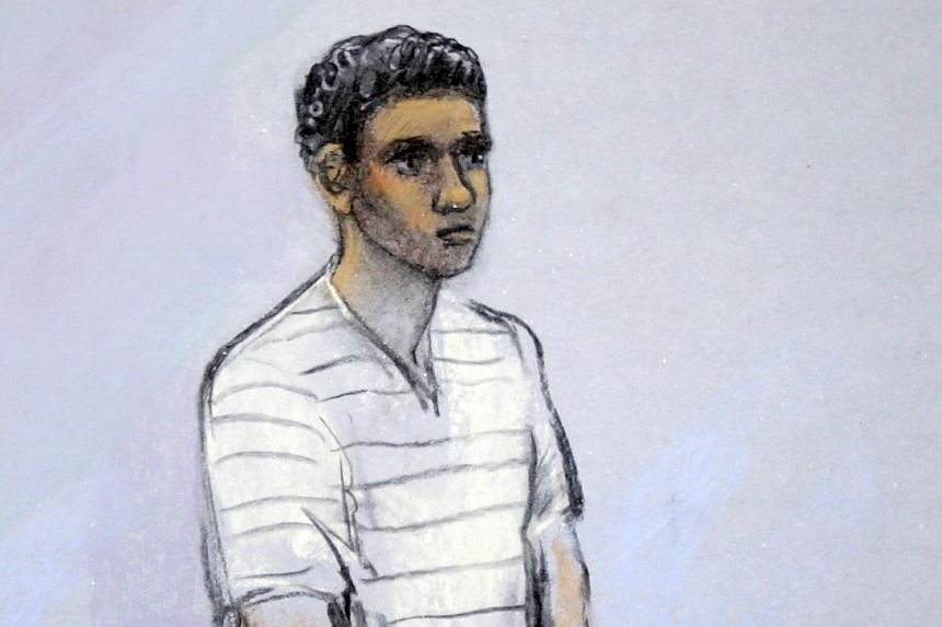 In this Wednesday, May 1, 2013 file photo of a courtroom sketch, Robel Phillipos appears in federal court, in Boston. Phillipos was indicted on charges he lied to federal investigators, the United States (US) Attorney General for Massachusetts said i