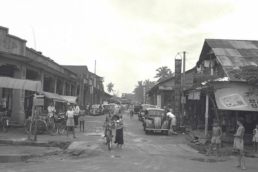 (Above) Lorong Tai Seng as it was in October 1950. -- PHOTO: ST FILE