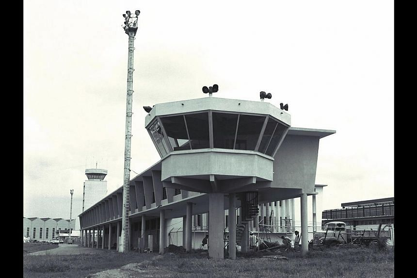 (Above) The Paya Lebar Airport terminal building in April 1964. -- PHOTO: ST FILE