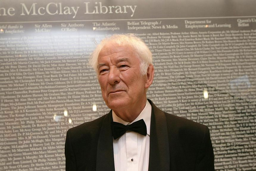 Nobel Prize-winning poet Seamus Heaney at the offical opening of Queens Unversity's new McClay Library in Belfast on July 6, 2010. Heaney, one of the world's best-known poets and winner of the 1995 Nobel Prize for literature, has died aged 74, local