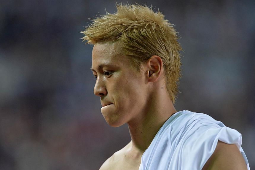 Japan's Keisuke Honda after an international friendly at Miyagi Stadium on Aug 14, 2013.AC Milan will put off signing Honda until January, meaning the focus is now on bringing Real Madrid forward Kaka back to the club, reports in Italy said on