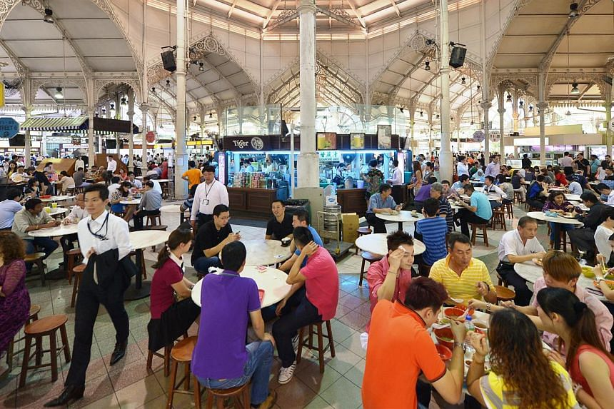 The iconic Lau Pa Sat closes from Sunday for a $4 million facelift. -- ST FILE PHOTO: ALPHONSUS CHERN