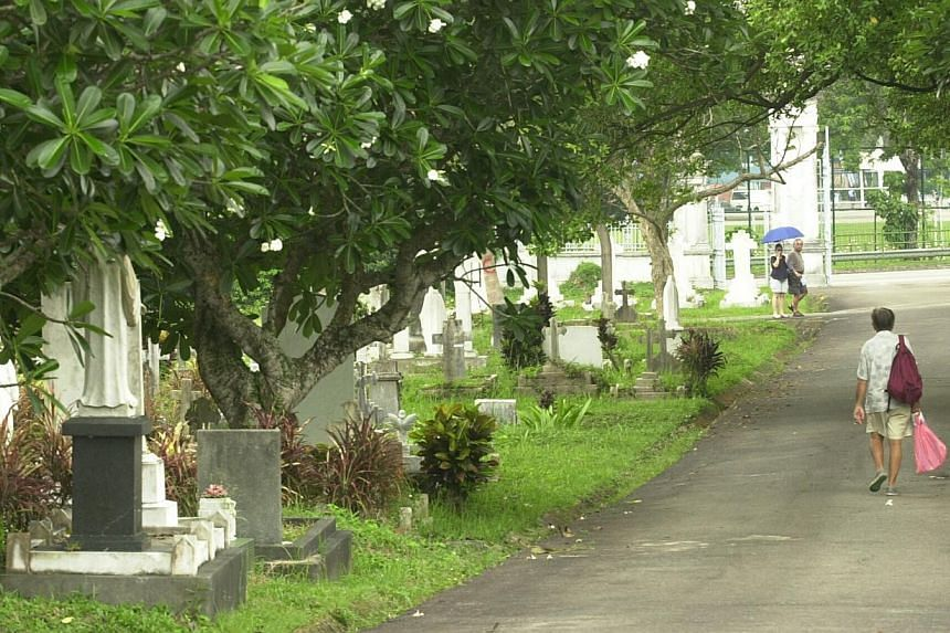 More than a graveyard, Bidadari is also rich in history, and is a place of beauty and a symbol of religious and racial harmony. -- ST FILE PHOTO: STEPHANIE YEOW