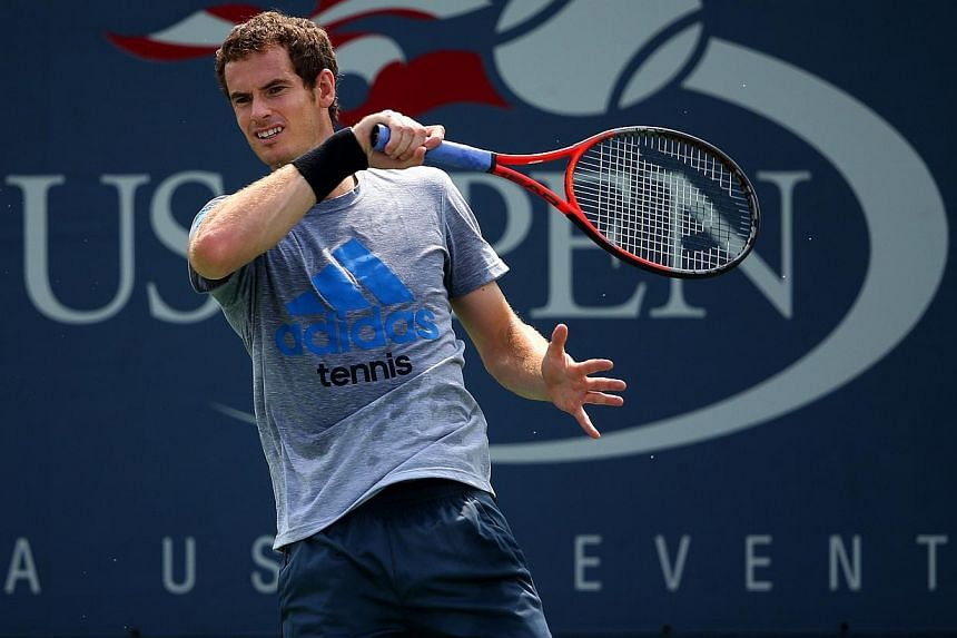 Andy Murray of Great Britain plays a forehand during a proactice session on Day Six of the 2013 US Open at USTA Billie Jean King National Tennis Center on Aug 31, 2013 in the Flushing neighborhood of the Queens borough of New York City. Defending cha