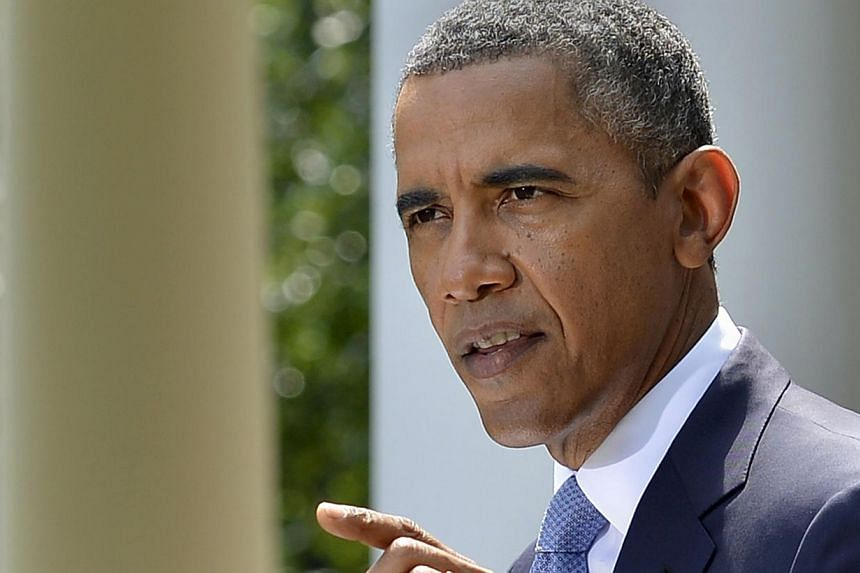 US President Barack Obama makes remarks on the situation in Syria, at the Rose Garden of the White House in Washington Aug 31, 2013. Mr Obama said on Saturday he had decided the United States should strike Syrian government targets in response to a d