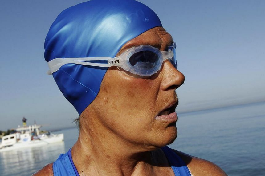 U.S. long-distance swimmer Diana Nyad is pictured before attempting to swim to Florida from Havana on Aug 31, 2013. Legendary US distance swimmer Diana Nyad forged ahead Sunday with her quest to become the first person to cross from Cuba to Florida w