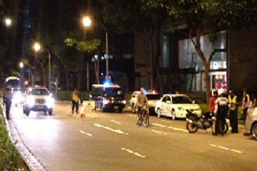 Over 200 people were arrested for illegal activities in a six-day joint enforcement blitz that started last Tuesday. -- PHOTO: SINGAPORE POLICE FORCE
