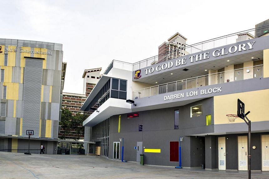 The new block at Anglo-Chinese School (International) is named after Darren Loh, who collapsed in May while helping to build a house in Kota Kinabalu. -- PHOTOS: COURTESY OF ANGLO-CHINESE SCHOOL (INTERNATIONAL) & DAVID LOH